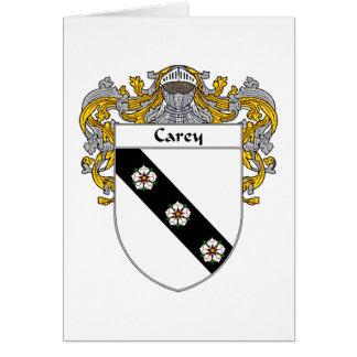 Escudo de armas de Carey (cubierto) Tarjeta De Felicitación