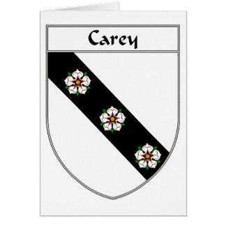 Escudo de armas de Carey/escudo de la familia Tarjeta De Felicitación