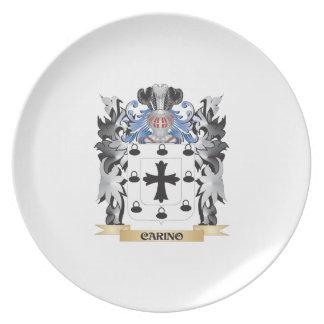 Escudo de armas de Carino - escudo de la familia Platos