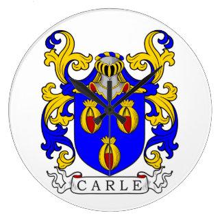 Escudo de armas de Carle Reloj De Pared