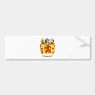 Escudo de armas de Carlton escudo de la familia Etiqueta De Parachoque