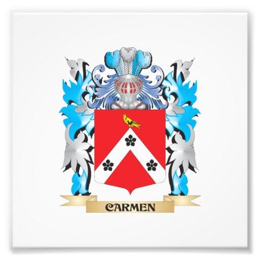 Escudo de armas de Carmen - escudo de la familia Cojinete