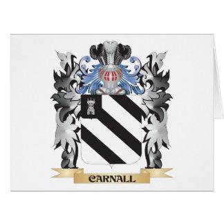 Escudo de armas de Carnall - escudo de la familia Tarjeta De Felicitación Grande
