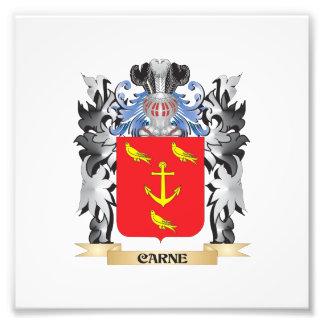 Escudo de armas de Carne - escudo de la familia Fotografía