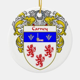 Escudo de armas de Carney/escudo de la familia Adorno Redondo De Cerámica