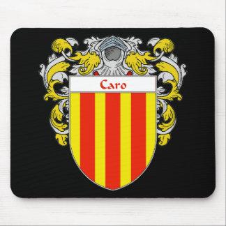 Escudo de armas de Caro (cubierto) Alfombrilla De Ratones