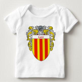 Escudo de armas de Caro (cubierto) Playera De Bebé