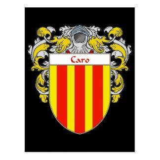 Escudo de armas de Caro (cubierto) Postales