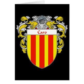 Escudo de armas de Caro (cubierto) Tarjeta De Felicitación