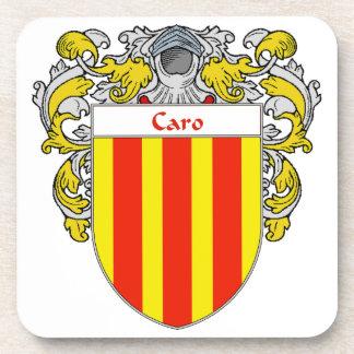Escudo de armas de Caro/escudo de la familia Posavasos De Bebida