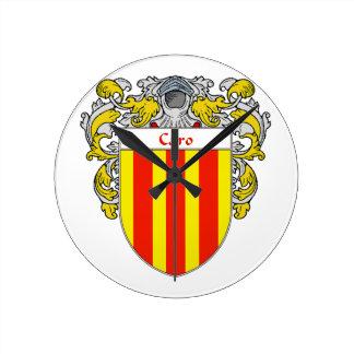 Escudo de armas de Caro/escudo de la familia Reloj Redondo Mediano