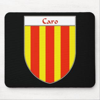 Escudo de armas de Caro Tapetes De Raton