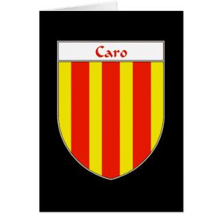 Escudo de armas de Caro Tarjeta De Felicitación
