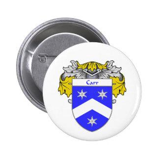 Escudo de armas de Carr/escudo de la familia cubie Pin