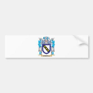 Escudo de armas de Carrell - escudo de la familia Etiqueta De Parachoque