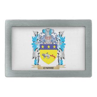 Escudo de armas de Carrie - escudo de la familia Hebillas Cinturón Rectangulares