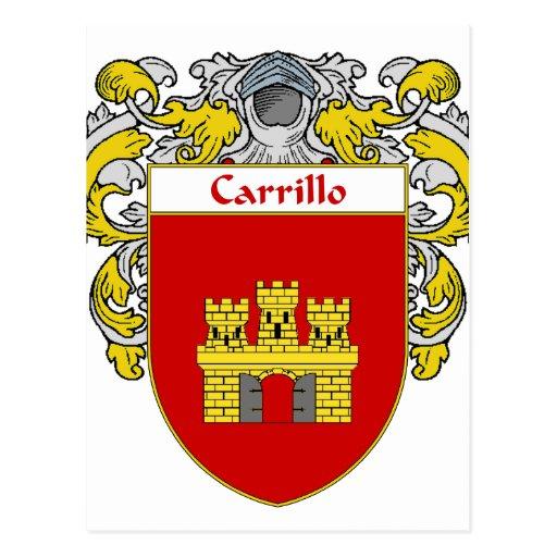 Escudo de armas de Carrillo (cubierto) Tarjetas Postales