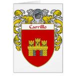 Escudo de armas de Carrillo (cubierto) Tarjetas
