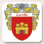 Escudo de armas de Carrillo/escudo de la familia Posavasos De Bebidas