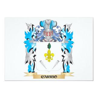 Escudo de armas de Carrio - escudo de la familia Invitación