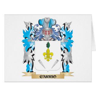 Escudo de armas de Carrio - escudo de la familia Tarjetón