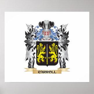 Escudo de armas de Carroll - escudo de la familia Póster