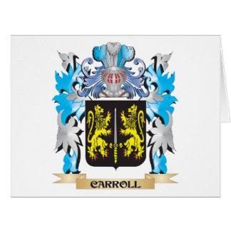 Escudo de armas de Carroll - escudo de la familia Tarjetón