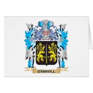 Escudo de armas de Carroll - escudo de la familia Felicitación