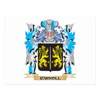 Escudo de armas de Carroll - escudo de la familia Tarjeta Postal