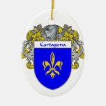 Escudo de armas de Cartagena/escudo de la familia Adorno Ovalado De Cerámica