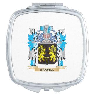 Escudo de armas de Carvill - escudo de la familia Espejo Para El Bolso