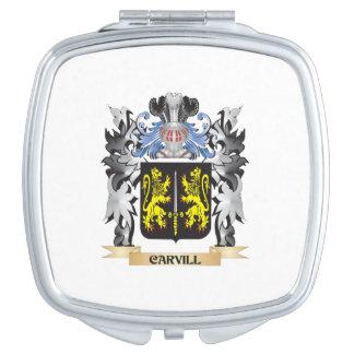 Escudo de armas de Carvill - escudo de la familia Espejos De Maquillaje
