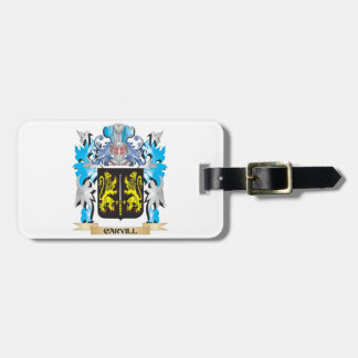 Escudo de armas de Carvill - escudo de la familia Etiquetas Maleta
