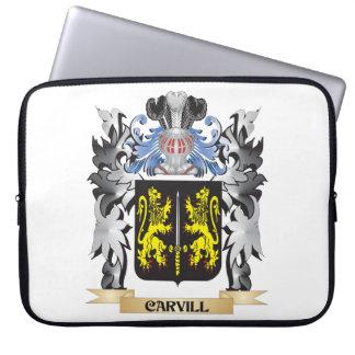 Escudo de armas de Carvill - escudo de la familia Funda Computadora