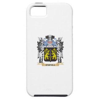 Escudo de armas de Carvill - escudo de la familia Funda Para iPhone 5 Tough