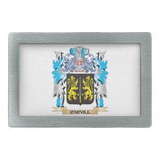 Escudo de armas de Carvill - escudo de la familia Hebillas De Cinturón Rectangulares