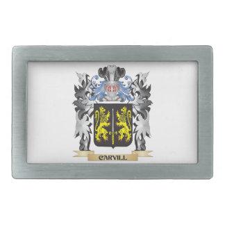 Escudo de armas de Carvill - escudo de la familia Hebilla De Cinturon Rectangular