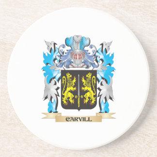 Escudo de armas de Carvill - escudo de la familia Posavaso Para Bebida