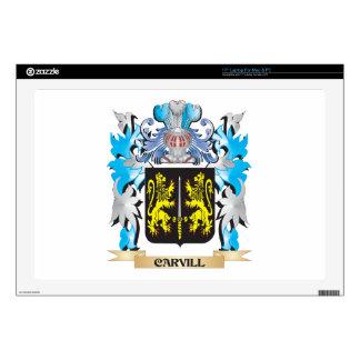 Escudo de armas de Carvill - escudo de la familia Portátil Calcomanías