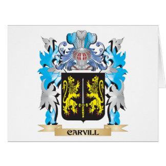 Escudo de armas de Carvill - escudo de la familia Tarjetón