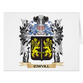 Escudo de armas de Carvill - escudo de la familia Tarjeta De Felicitación Grande