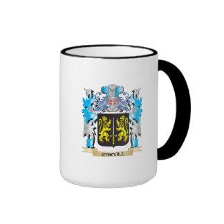 Escudo de armas de Carvill - escudo de la familia Taza A Dos Colores