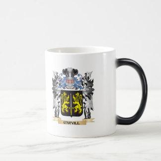 Escudo de armas de Carvill - escudo de la familia Taza Mágica