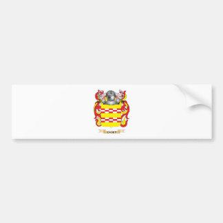 Escudo de armas de Caset (escudo de la familia) Pegatina De Parachoque