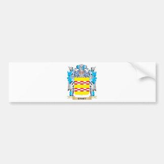 Escudo de armas de Caset - escudo de la familia Pegatina De Parachoque