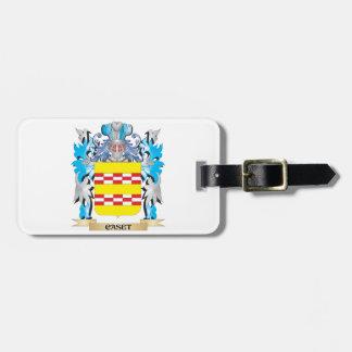 Escudo de armas de Caset - escudo de la familia Etiqueta Para Equipaje