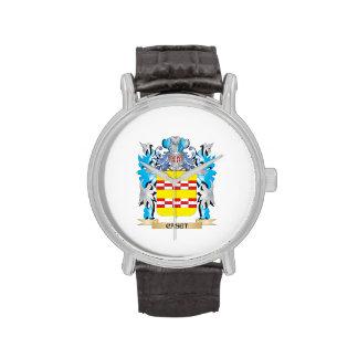 Escudo de armas de Caset - escudo de la familia Relojes