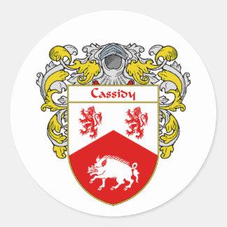 Escudo de armas de Cassidy (cubierto) Etiqueta Redonda
