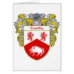Escudo de armas de Cassidy (cubierto) Tarjetón