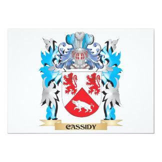 Escudo de armas de Cassidy - escudo de la familia Invitación 12,7 X 17,8 Cm